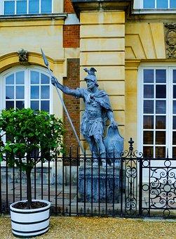 Hampton Palace, Landscape, Statue, Scenery, Tourist