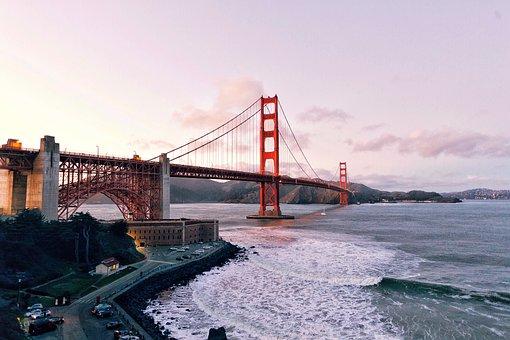 Bridge, Architecture, Infrastructure, Sea, Ocean, Water