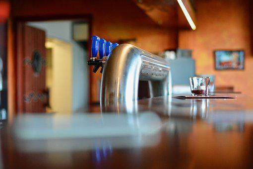 Faucet, Blur, Bokeh, Steel, Bar, Drinks, Lights, Glass
