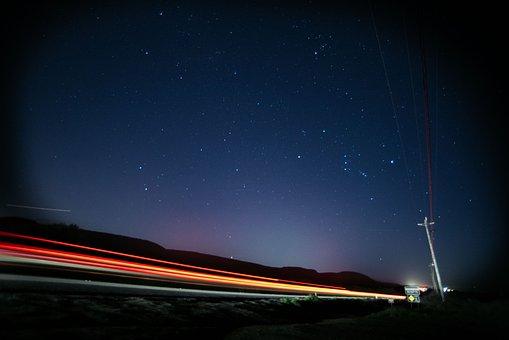 Post, Sky, Universe, Galaxy, Speed, Blur, Vehicle