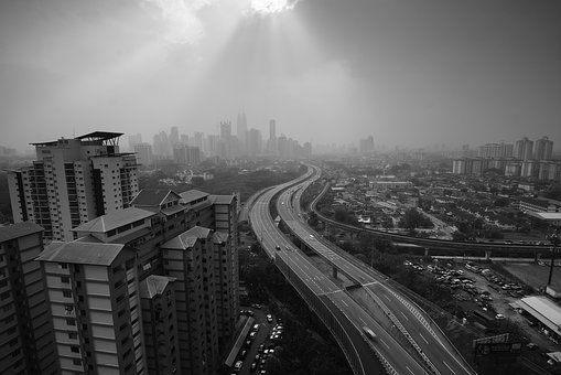 Architecture, Building, Infrastructure, Black And White