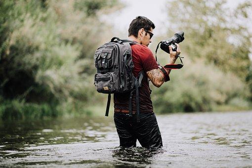 People, Man, Camera, Photographer, Travel, Adventure