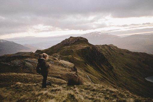 People, Woman, Travel, Adventure, Mountain, Hike, Climb
