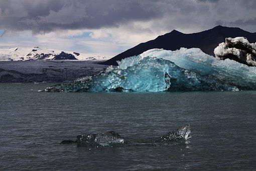 Iceberg, Iceland, Glacier, Jökulsárlón, Glacier Bay