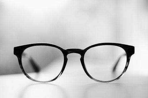 Eyeglasses, Frame, Lens, Grade, Black And White