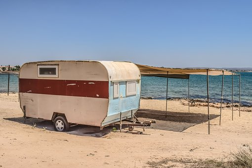 Caravan, Trailer, Shed, Improvised, Wooden, Decaying
