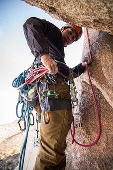 People, Man, Hike, Climb, Mountaineer, Gears, Rope
