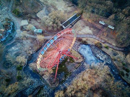 Ferris Wheel, Amusement, Show, Old, Abandoned, Rust
