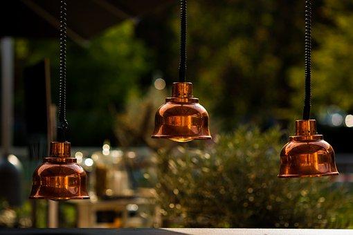 Bell, Sound, Bokeh, Restaurant, Shop, Red, Lamp