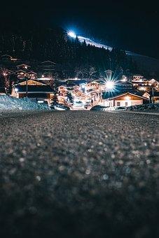 Household, Dark, Night, Floor, Road, Light, Home, Trees