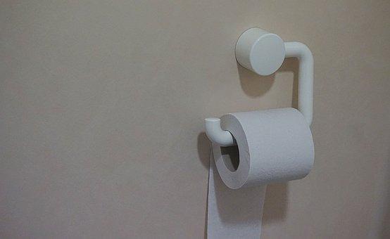Paper, Tissue, Roll, Tissue Holder, Toilet, Wall