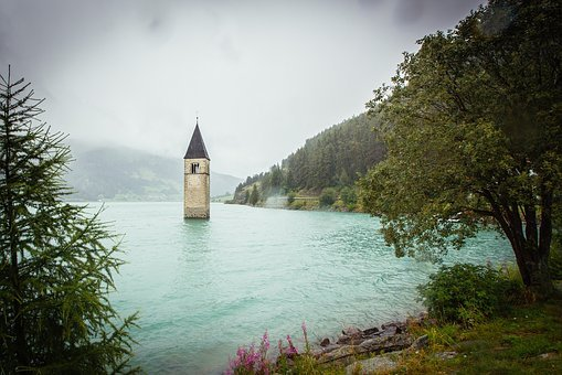 Water, Valley, River, Lighthouse, Clock, Time, Old