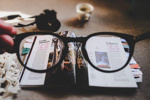 Eyeglasses, Grade, Read, Magazine, Layout, Design