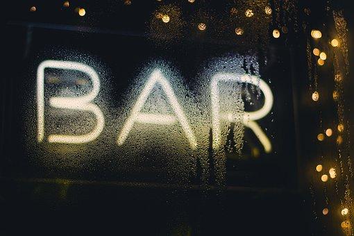 Bar, Establishment, Window, Wet, Droplets, Water
