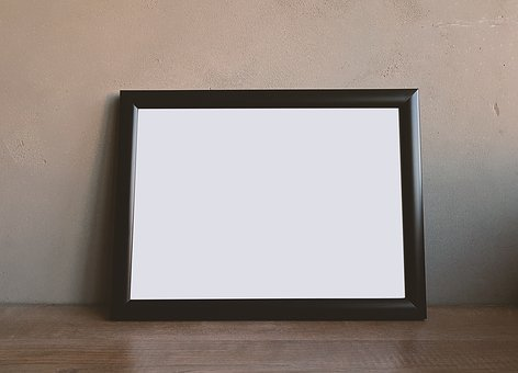 Frame, Border, White, Wall, Floor, Brown Wall