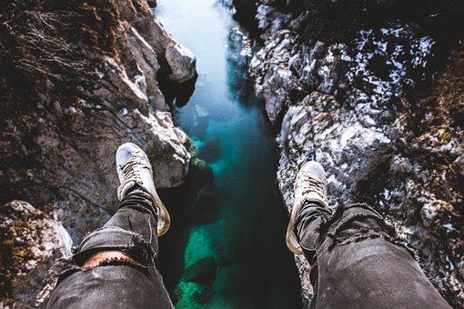 Mountain, Rocks, Grass, Tree, Water, Valley, People