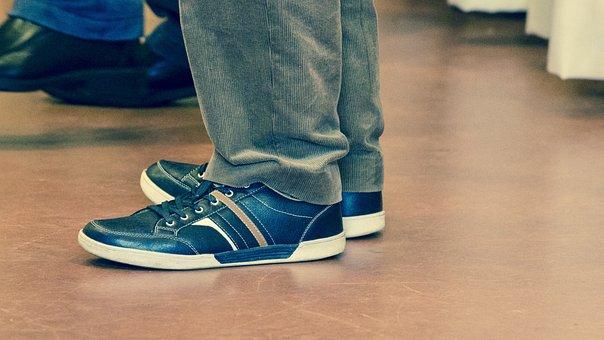 Shoes, Shoelace, Floor, Black, Leather, Design, Art