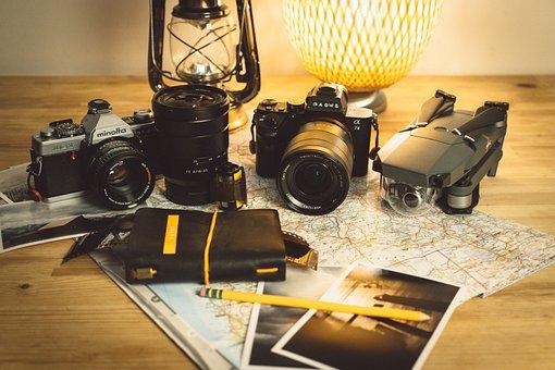 Camera, Minolta, Lens, Flash, Photography, Photo