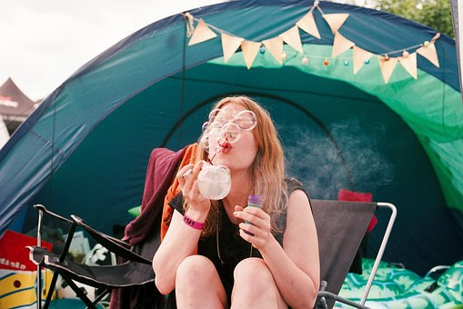 People, Woman, Bubbles, Camping, Outdoor, Bond, Trees