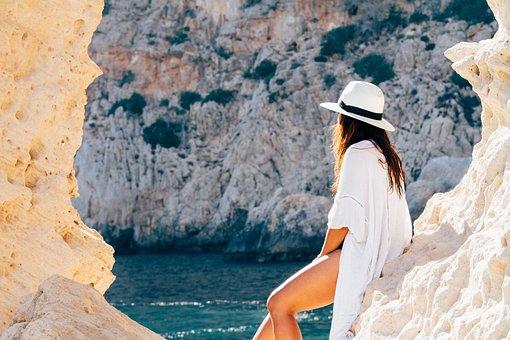 People, Woman, Fashion, Swimsuit, Beach, Sand, Ocean