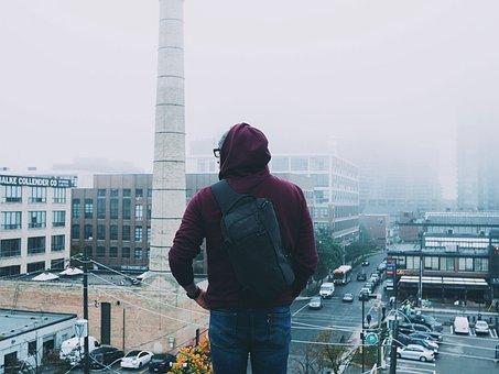 People, Man, Hoodie, Jacket, Urban, City, Travel