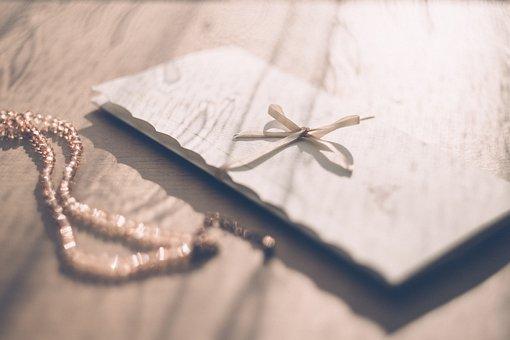 Invitation, Envelope, Ribbon, Letter, Formal, Necklace