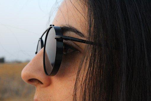 Portrait, Sunglasses, Black