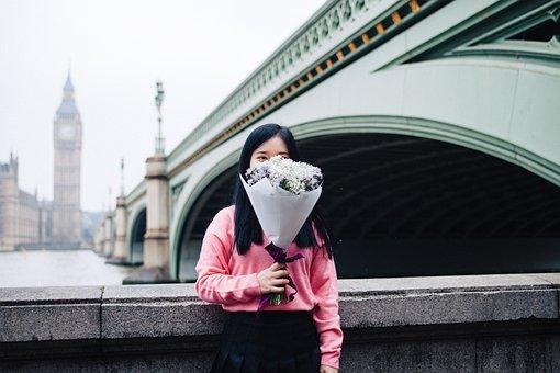 People, Woman, Flower, White, Plant, Petal, Bloom