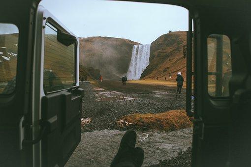 Vehicle, Falls, Adventure, Trip, Travel, Mountain