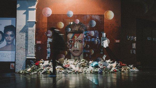 Bouquet, Flower, Paint, Lights, Wall, Art, Street
