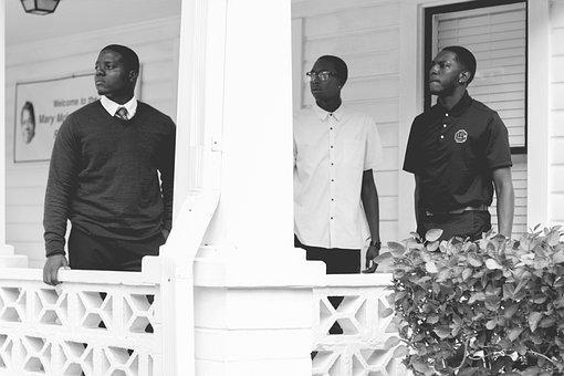 Men, Guys, Black American, Fashion, Black And White