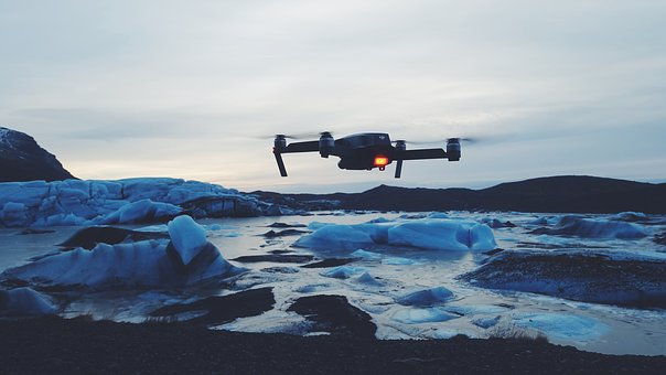 Drone, Camera, Ice, Iceberg, Snow, Cold, Weather