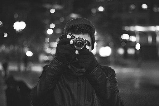 People, Man, Photographer, Photography, Camera, Lens