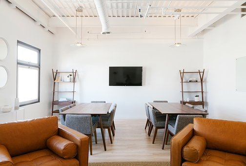 Interior, Design, Tables, Chairs, White, Wall, Ceiling