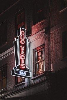 Night, Dark, Lights, Bar, Celebration, Restaurant