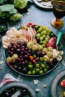 Fruits, Healthy, Food, Grapes, Bowl, Biscuit, Glass