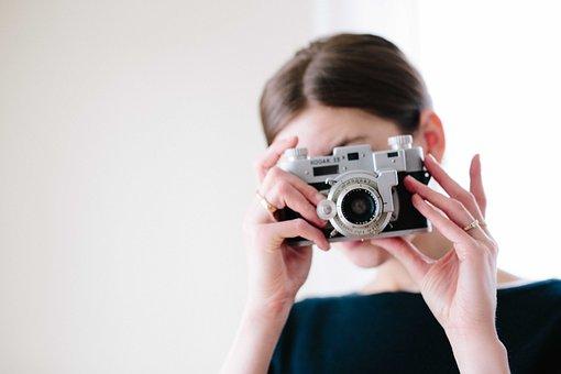 Camera, Woman, Girl, People, Capture, Shooting, Lens