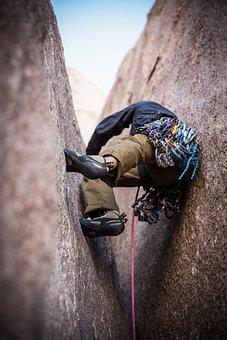 Man, Guy, Adventure, Mountaineer, Rock, Rope, Climbing