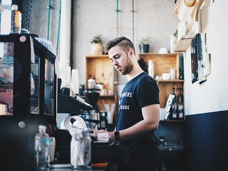 People, Man, Counter, Cashier, Restaurant, Store, Shop