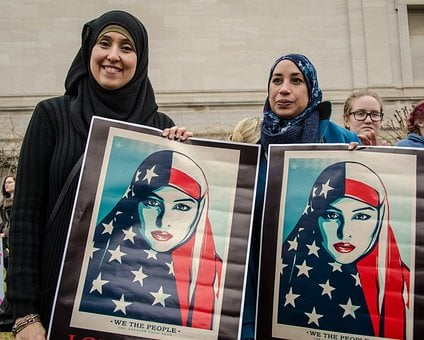 Muslims, Immigrants, America, Us, Protest, Rally