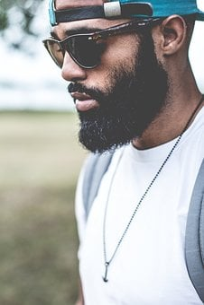 Guy, Man, Fashion, Backpack, Beard, Necklace