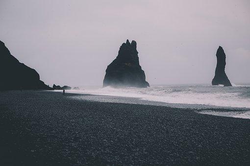 Rock, Formation, Coast, Wave, Sea, Sand, Ocean, Beach