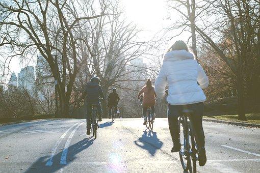 People, Man, Woman, Kid, Child, Bike, Bicycle, Road