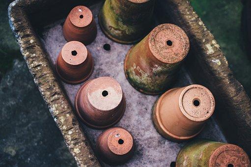 Pot, Flowerpot, Ceramic, Clay, Plant, Old