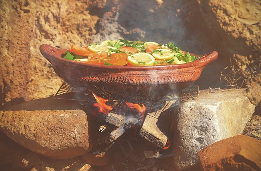 Pot, Grill, Charcoal, Outdoor, Fire, Sparks, Smoke