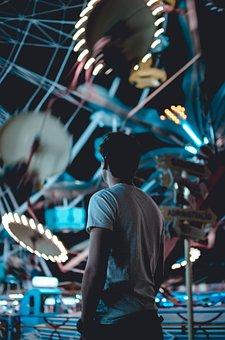 People, Man, Ride, Ferris Wheel, Amusement Park