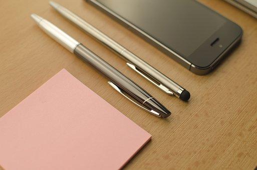 Apple, Technology, Mac, Sticky Notes, Pen, Notes, Pink