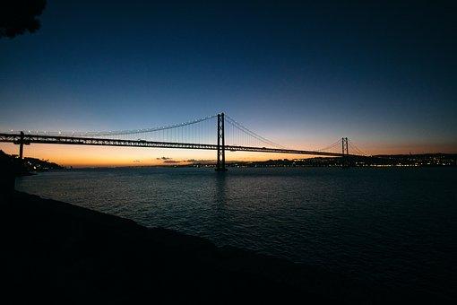 Dark, Beach, Shore, Coast, Sky, Architecture, Bridge