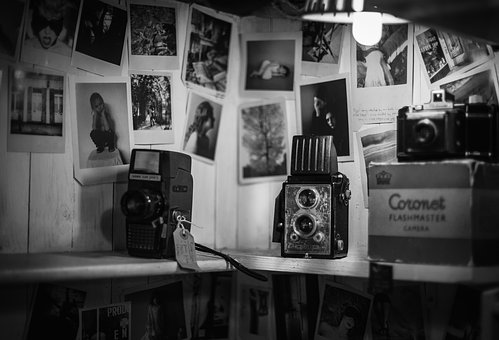 Black And White, Photos, Wall, Camera, Old, Light