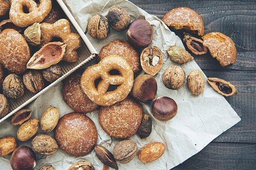 Donut, Sweet, Pretzel, Food, Dessert, Peanut, Cookies